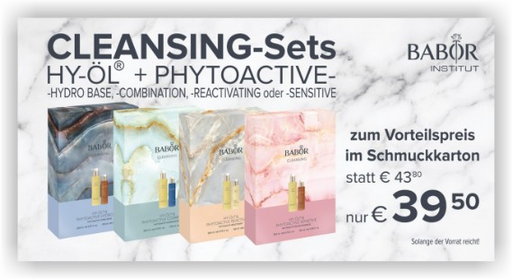 CLEANSING-Sets: HY-ÖL + PHYTOACTIVE